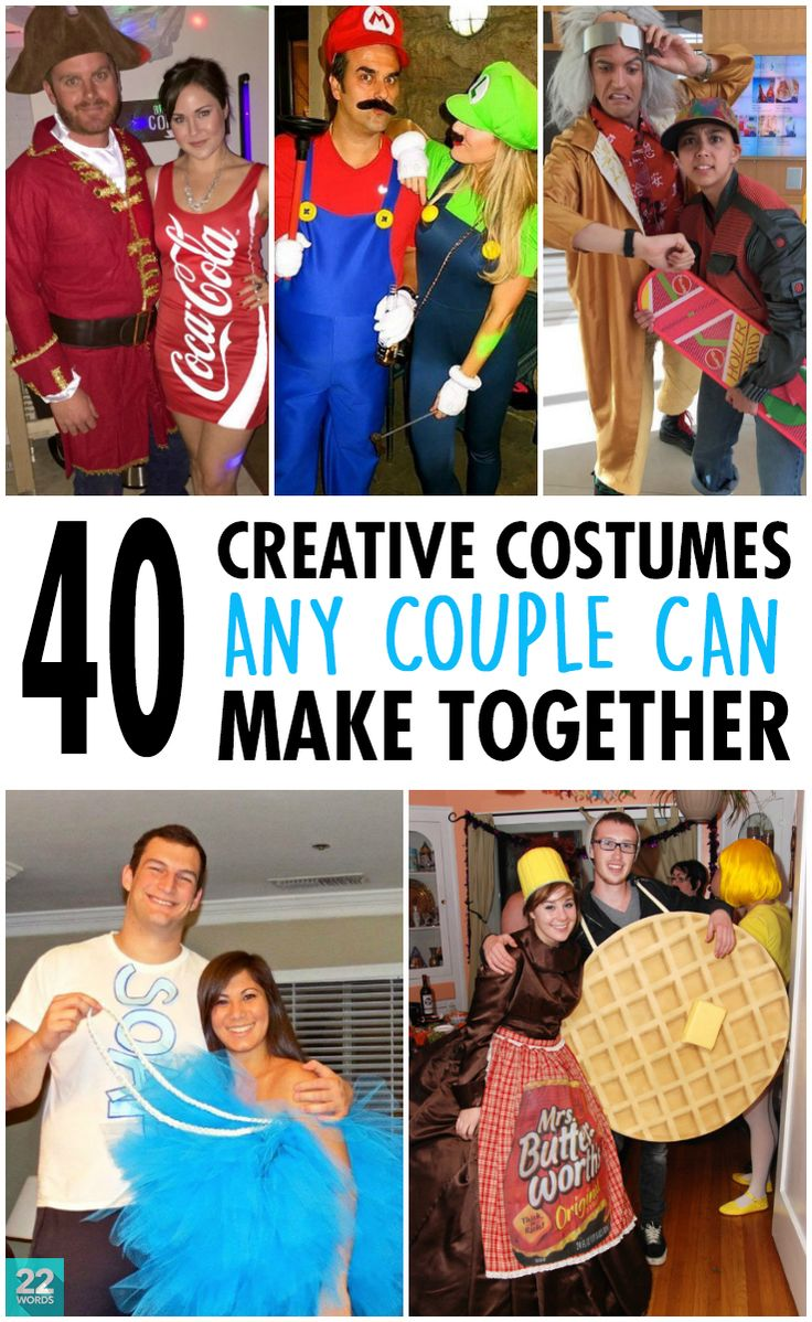 These clever Halloween costume ideas are so easy to DIY that any couple with a little creativity (and a sense of humor) can put them together.
