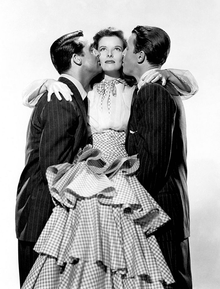 Three of the finest actors in one of my favorite films. Cary Grant, Katharine Hepburn & James Stewart.