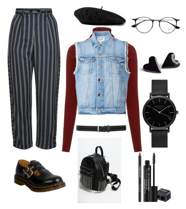 independent by magkulinska on Polyvore featuring polyvore fashion style A.L.C. Frame Topshop Dr. Martens ROSEFIELD Gucci M&Co Ray-Ban Rodial clothing
