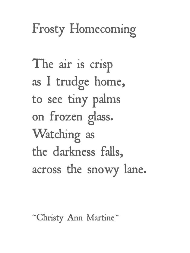 Winter poem snow child waiting at window wintertime snowy lane ...