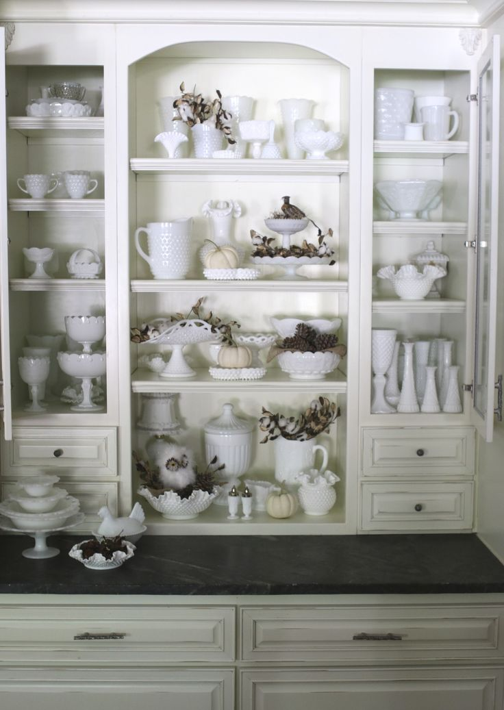 Milk glass collection. I love it!