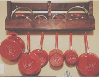 rustic pot rack – Etsy