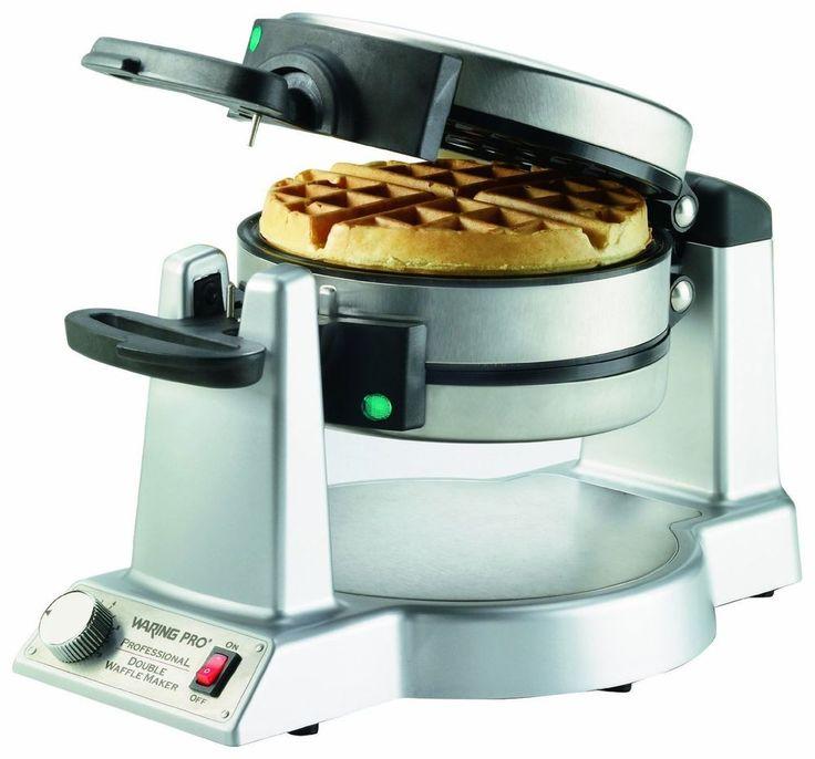 Belgian Waffle Maker Double Iron Gourmet Baker Breakfast Commercial Waring Pro #Waring