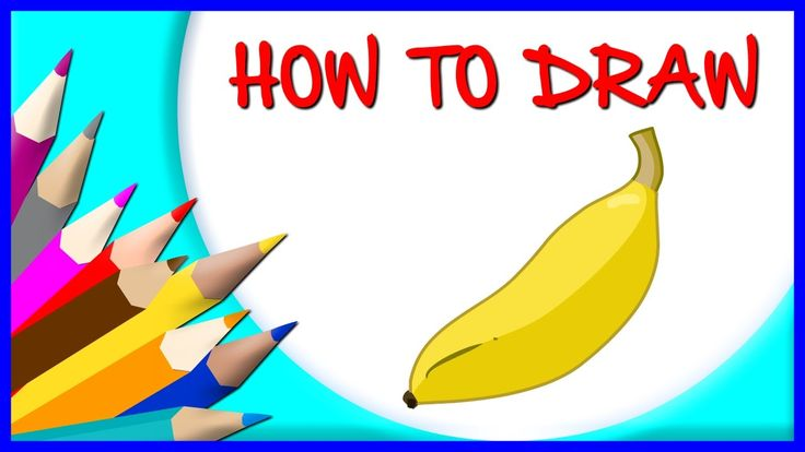 How to Draw Banana | Drawing Time Lapse | 853672 HTD