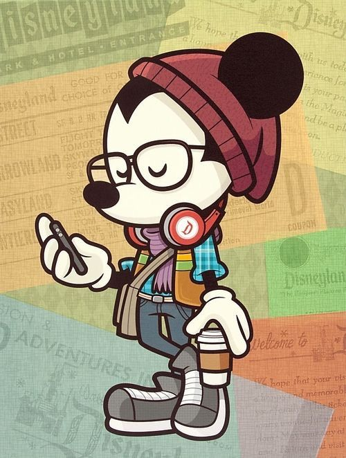 Disney Hipster Mickey Mouse