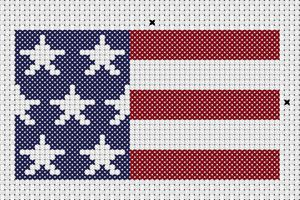 Stars and Stripes free patriotic cross stitch pattern