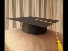 Cómo hacer un birrete de graduación escolar de cartulina. Haw to make graduation cap - YouTube