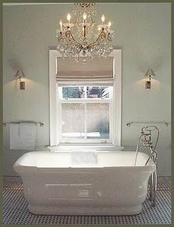 chandeliers: Wall Colors, Bathroom Design, Nate Berkus, Bathroom Colors, Decor Ideas, Bath Tubs, Bathtubs, Bubbles Bath, Bathroom Ideas