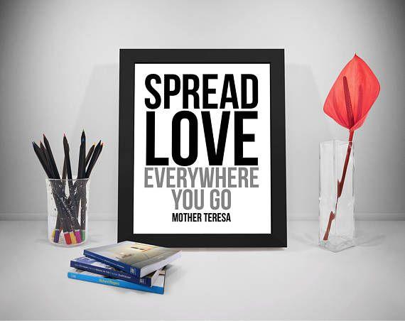Love Quotes Mother Teresa Sayings Spread Love Print Art