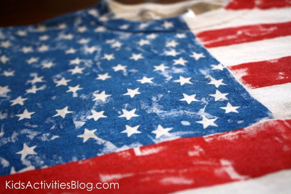 4th of July Flag Shirt Tutorial – Kids Activities Blog
