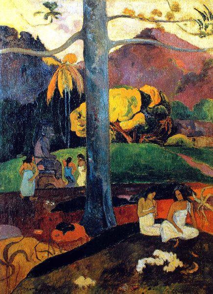 Paul Gauguin - Post Impressionism - Tahiti - Autrefois, il était une fois - 1892