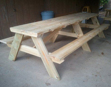 Table De Picnic : Picnic Table DIY  Picnic Table DIY Instructions  This picnic table ...