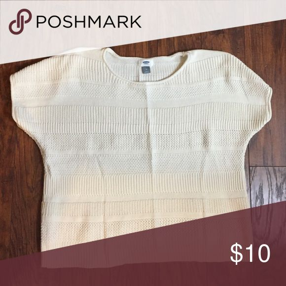 slouchy old navy sweater ivory short sleeve old navy sweater Old Navy Sweaters