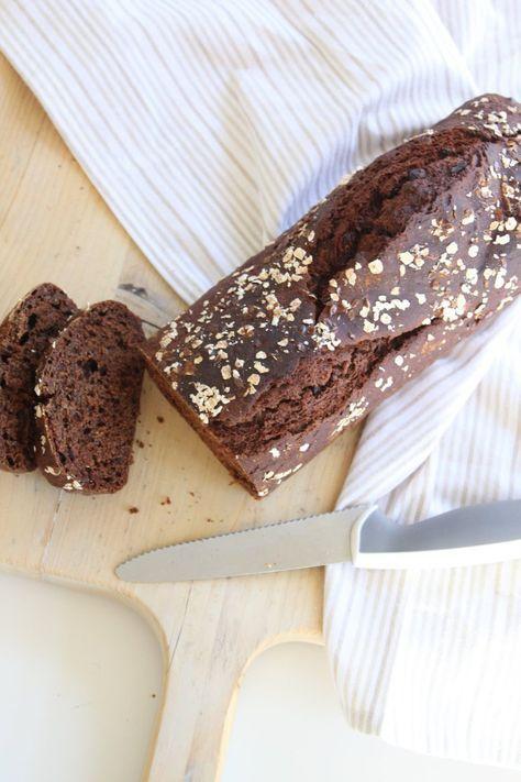 recept voor een gezonde ontbijtkoek die suikervrij, lactose vrij en glutenvrij is.