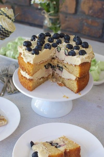 lime and blueberry cake with coconut - Claire K Creations | #blueberry ...