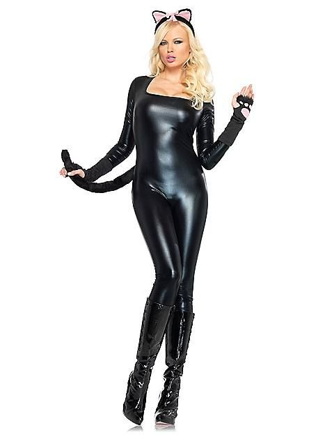 Sexy Black Catsuit  Adult Costume