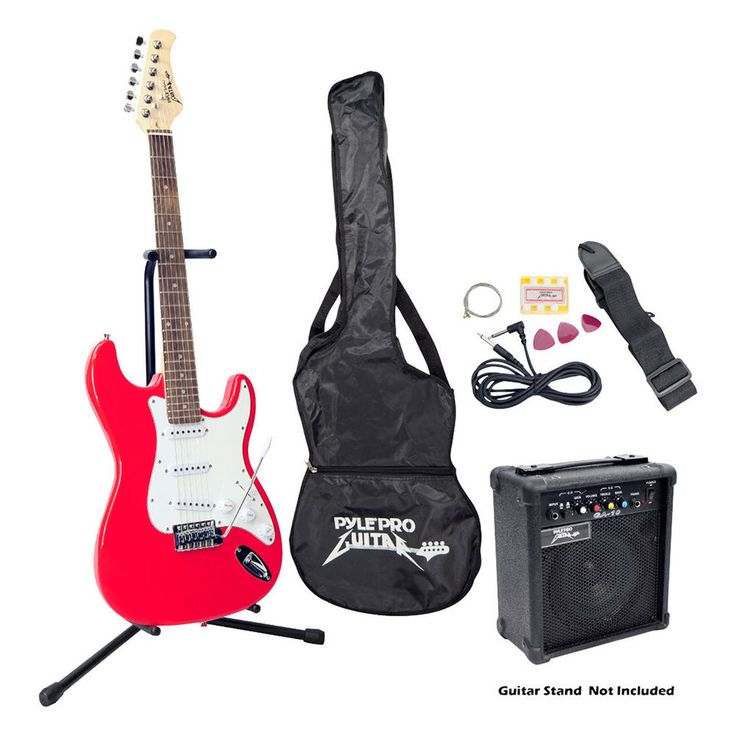 Beginner Electric Guitar Package- Red #Pyle