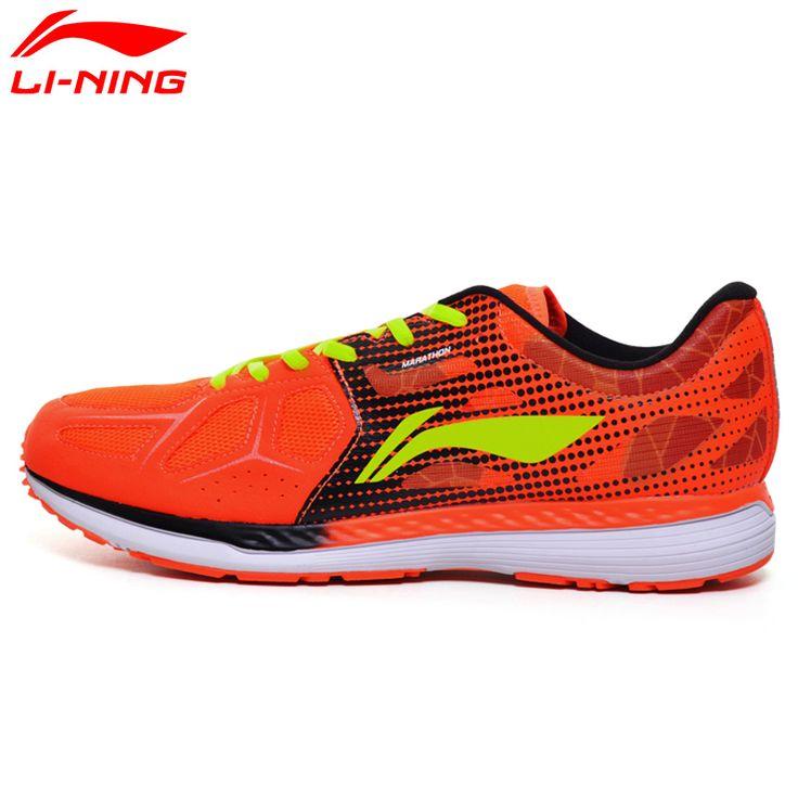 LI-NING Badminton professionnel pour homme Pro intérieur Chaussures Baskets orange et bleu, Bleu