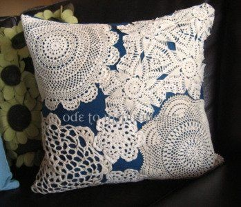 Almofada - reciclagem de crochet