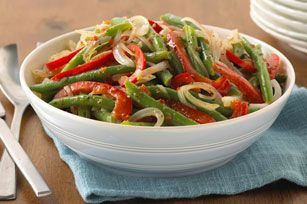 Fresh Peppers & Green Beans recipe | Recipes | Pinterest | Green Beans ...