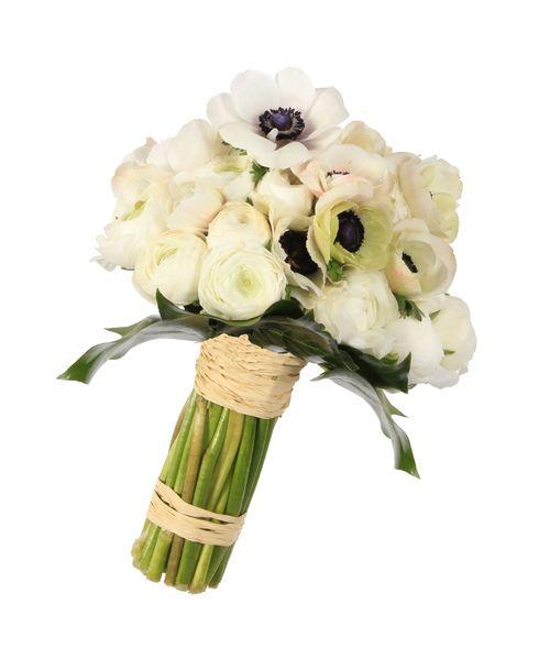 Ramos de novia vintage Snow White - Compuesto por francesillas y anémonas | Bourguignon Floristas #weddingbouquet #bridalbouquet #weddingflowers #novias