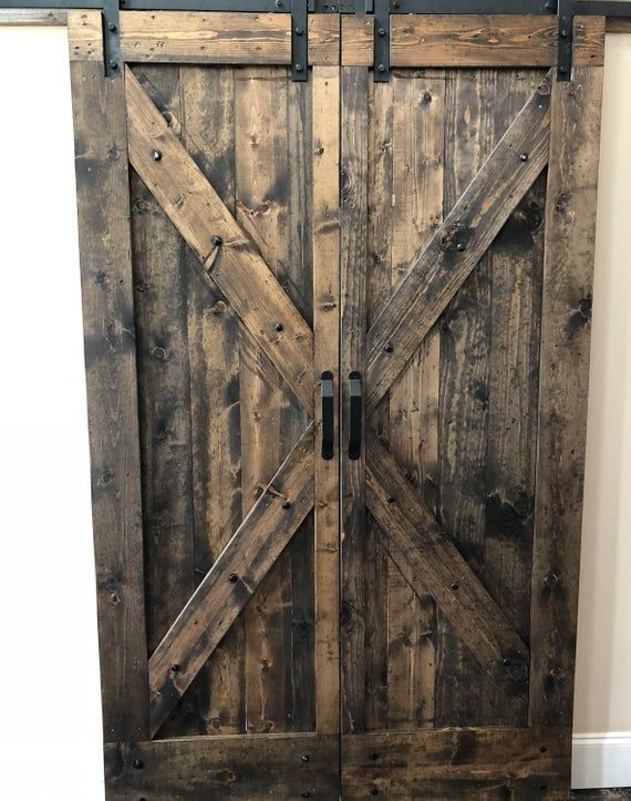 Rustic Solid Wood Barn Doors Etsy Wood Barn Door Rustic Interior Barn Doors Wood Doors Interior