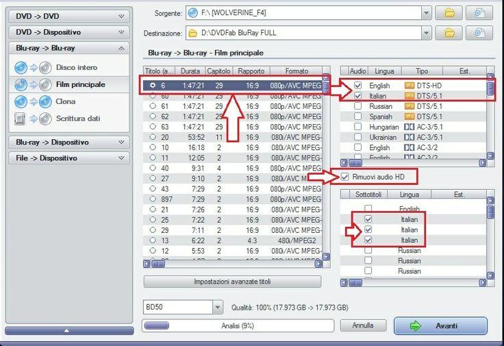 - Guida - Da BluRaY a MKV con Lingue Audio ITA-ENG e Sottotitoli ITA - DVDFab Forum