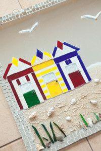 Creative Company | Classy Glass Art: Beach cabins mirror