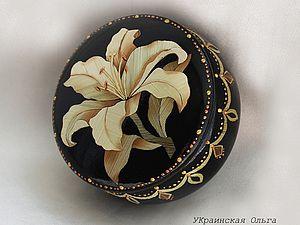 Декор шкатулки в технике аппликация соломкой | Ярмарка Мастеров - ручная работа, handmade