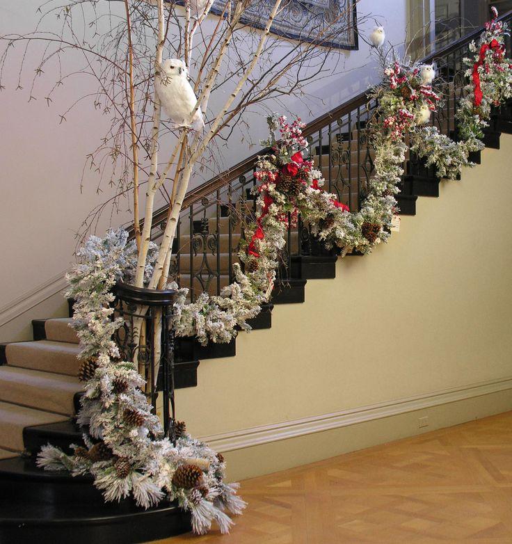 560 Best Christmas Stair Decor Images On Pinterest