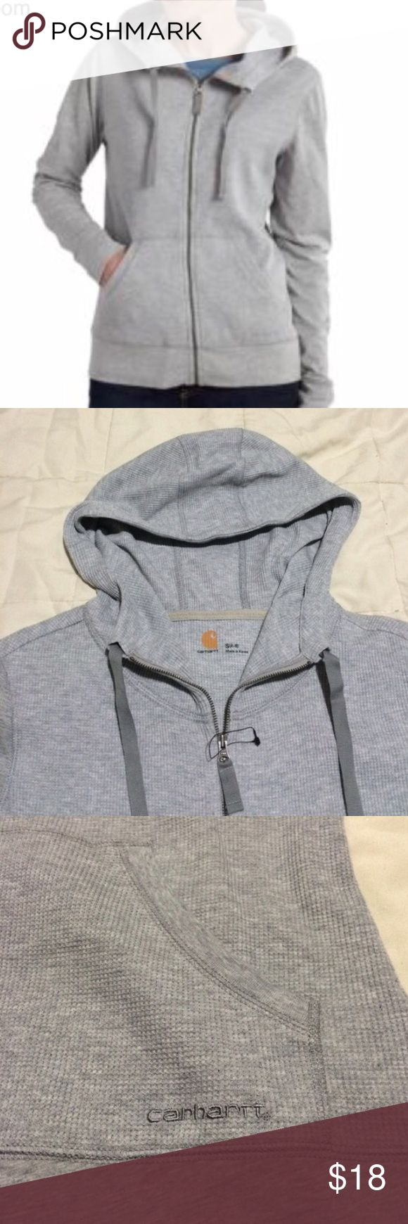 🎄SALE🎄CARHARTT waffle cotton hoodie CARHARTT - Brand new light hoodie. Waffle cotton, Front zipper, Hood with adjustable strings. Two front pockets, Logo embroidery on left pocket. Brand new, not even trued on (tag fell). Smoke free / Pet free home. Carhartt Jackets & Coats