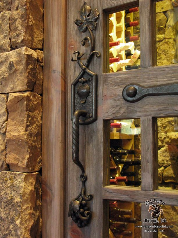 Arts And Craft Wine Cellar Door Pull Home Design Pinterest Door Pulls And Wine Cellars