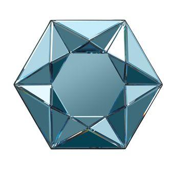 Diamond Mirror Hexagon