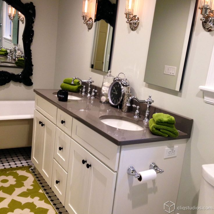 Dayton Painted White Mission Bathroom Vanity Cabinets From Cliqstudios