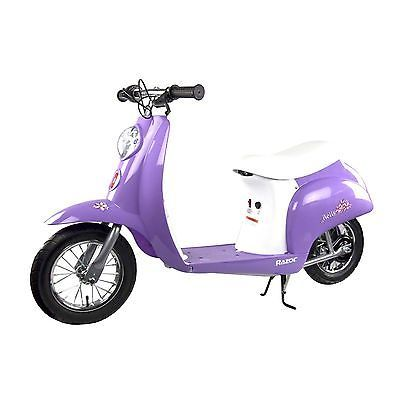 Razor Pocket Mod Miniature Euro 24V Electric Retro Scooter Purple