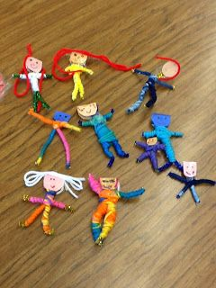 Another way to make worry dolls