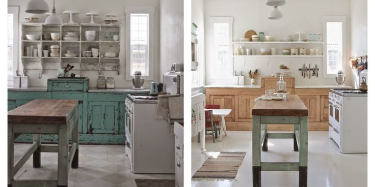 Modern Rustic Kitchen Makeover - White Kitchen Before and After