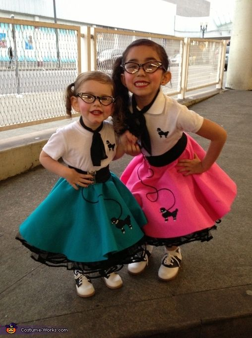 50s Sock Hop Girls Halloween Costumes