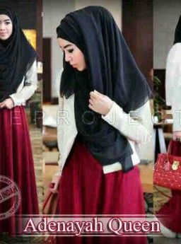 Baju Maxi Adenayah Queen dan Pashmina Sifon R811, Ready Stok, Untuk pemesanan dan informasi silahkan hubungi admin di SMS/WhatsApp: 085259804804