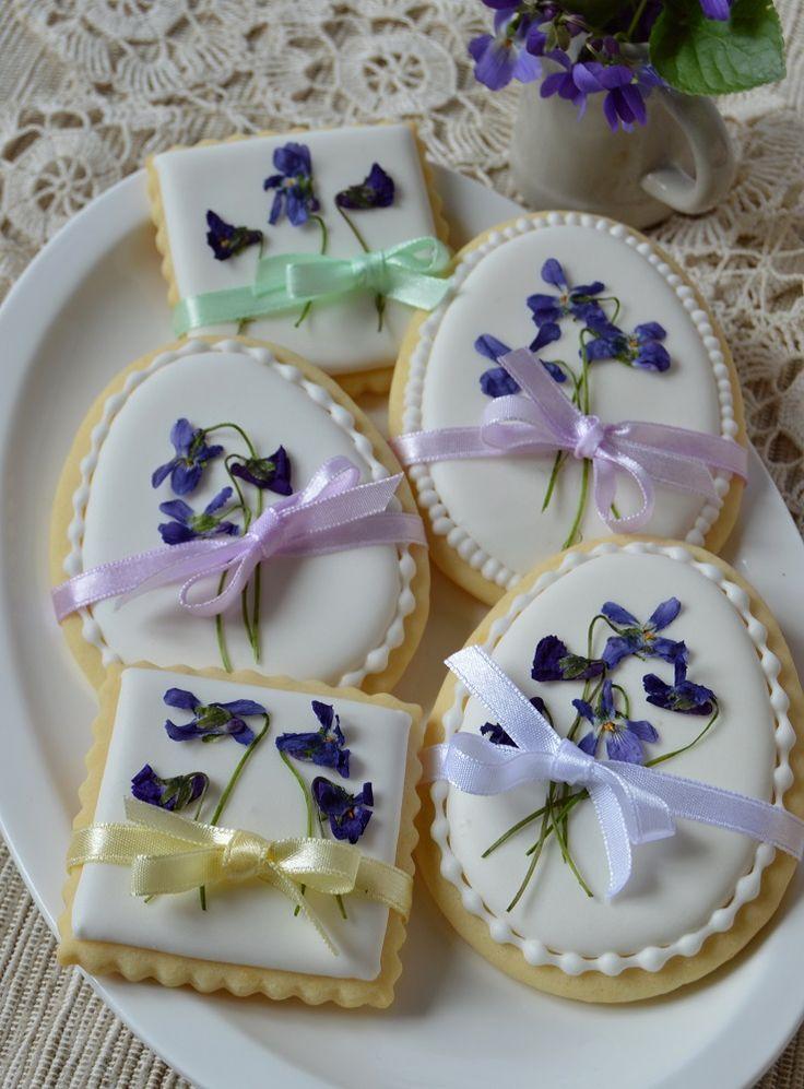 Citromhab: Húsvéti keksz ibolyával