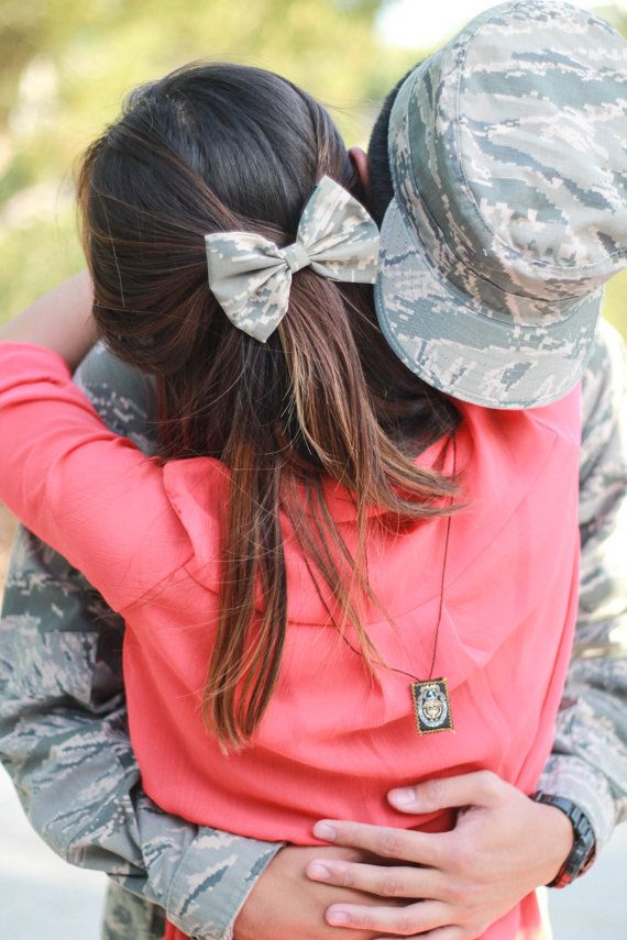 Military Hair Bows by LoveUnstoppable on Etsy