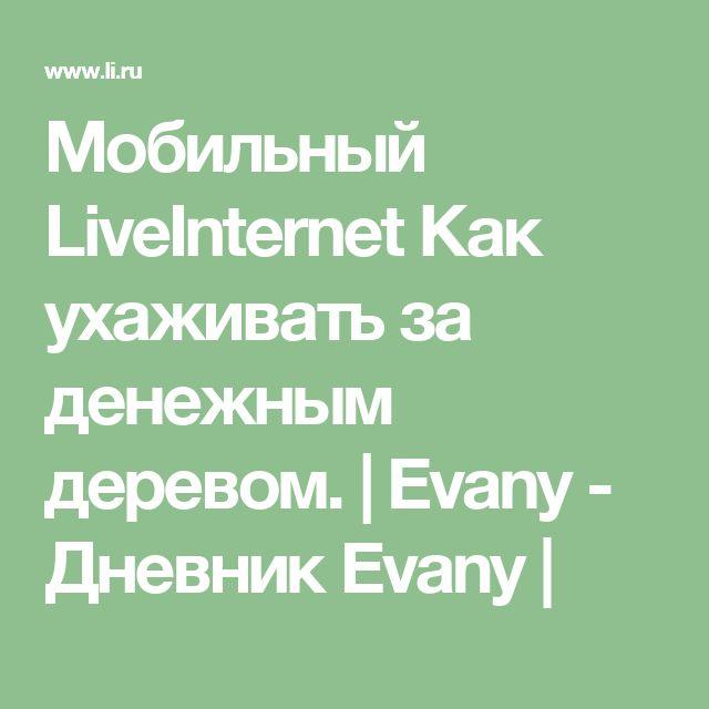 Мобильный LiveInternet Как ухаживать за денежным деревом. | Evany - Дневник Evany |