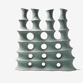 'Quadruple' by German ceramic artist Frank Schillo (b.1971). 48 cm. via the artist's site
