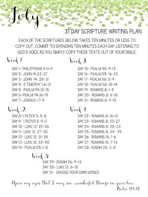 Anyone up for a challenge? What better way to come to know scripture and get closer to the Lord?
