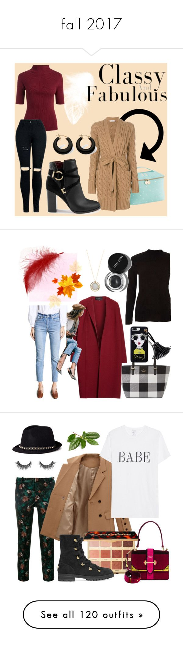 """""""fall 2017"""" by chooseonecool ❤ liked on Polyvore featuring PBteen, MaxMara, Miss Selfridge, Palm Beach Jewelry, Kate Spade, Lafayette 148 New York, River Island, Jacqueline Rose, Rebecca Taylor and Bobbi Brown Cosmetics"""