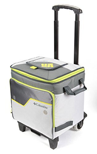 Columbia Crater Peak Rolling Thermal Pack Cooler with A.T. Cart. For product & price info go to:  https://all4hiking.com/products/columbia-crater-peak-rolling-thermal-pack-cooler-with-a-t-cart/