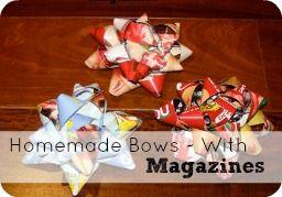 Homemade Christmas Bows #DIY #Gift # Wrapping