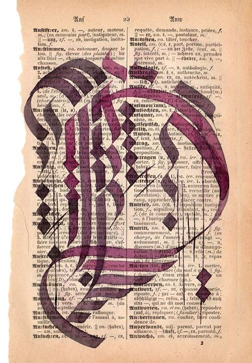 Buchstabe D ♥ Kalligraphie