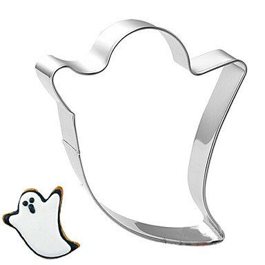 Halloween Theme Spirit Ghost Shape Cookie Cutter, L 8cm x W 7cm x H 2.5cm, Stainless Steel  MSKU1903888 by RUSTIKOcakeDecoratio on Etsy