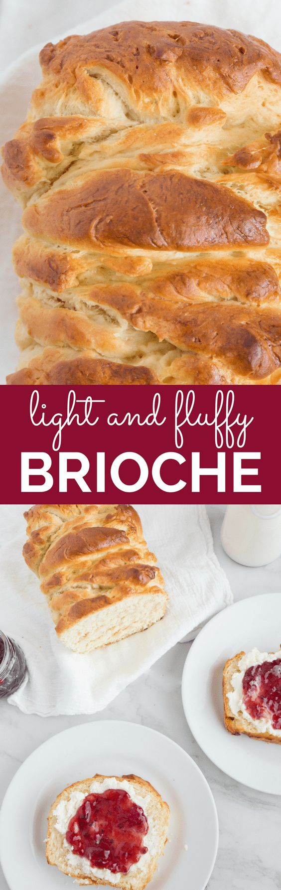 You won't believe how easy this brioche bread is to make! This light and fluffy bread is perfect for breakfast, topped with your favorite jam. It truly is a delightful French classic. | wanderzestblog.com #recipe #brioche #french #bread